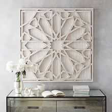 Dimensional Art | west elm. Bet I could make this with paint stir sticks :)
