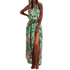 3937c2815d0 CHAMSGEND 2019 Boho Floral Long Maxi Dress