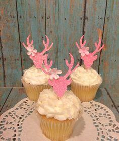 Child Woman Child Bathe Decorations,Deer Cupcake Toppers,Doe Cupcake Toppers, Pink Doe,Glitter Child Bathe, Ships in 1-three enterprise days, 1 CT..  Learn even more by going to the picture link