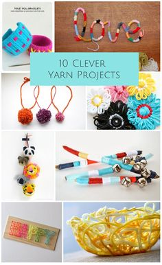 Fun and clever yarn crafts both kids and adults will enjoy!