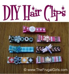 How to Make *Cute* Hair Clips for Babies and Little Girls! ~ from TheFrugalGirls.com