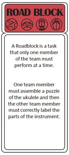 The Amazing Race: World Music Unit - could use same idea to solving other problems or identifying uses for items