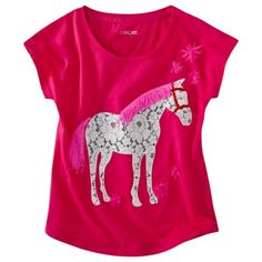 Cherokee® Girls Short-Sleeve Tee -  Lipstick