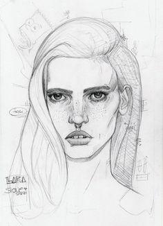 Lara Stone sketch buy Kyulx