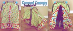 Here is how to make one of those cute carseat canopies to keep your little one protected from the weather and unwelcome germs. I love the front slit on this carseat canopy. Trust me, after having 3…