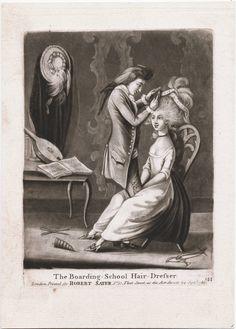 Boarding School Hair Dresser, 1786, Lewis Walpole Library Digital Collection