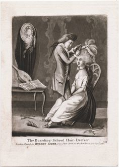 Boarding School Hair Dresser, 1786, Lewis Walpole Library Digital Collection