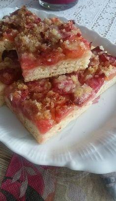 Helenkine dobroty - Kváskový ovocný koláč s posýpkou French Toast, Sweet Tooth, Sandwiches, Cheesecake, Food And Drink, Breakfast, Recipes, Cakes, Fat