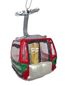This gondola ornament looks just like the real thing at Sunday River, Maine