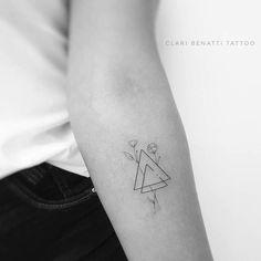 40 Beautiful Ornamental Tattoo Designs by Clari Benatti 40 Beautiful Ornamental Tattoo Designs by Clari Benatti Minimalist Tattoo Designs Minimalist Triangles and Flowers Tattoo by Clari Benatti Dainty Tattoos, Mini Tattoos, Small Tattoos, Symbolic Tattoos, Hamsa Tattoo, Sternum Tattoo, Flower Tattoo Designs, Flower Tattoos, Geometric Tattoo Pattern