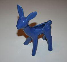 Vintage Deer Planter Figurine