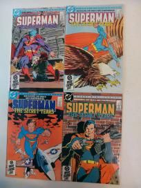 COMPLETE 4 COMIC MINISERIES - SUPERMAN THE SECRET YEARS #1-4  (DC 1985) *FREE SHIPPING*