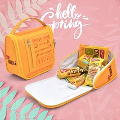 Lancheira Personalizada ideal para levar lanches e marmitas. Brindes Termo-moldados Rampazzo Brindes. Personalized Lunch Bags, Promotional Giveaways, Custom Products, Box Lunches, Colors, Ideas