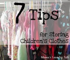 7 Tips for Storing Children's Clothes - from Mama's Laundry Talk