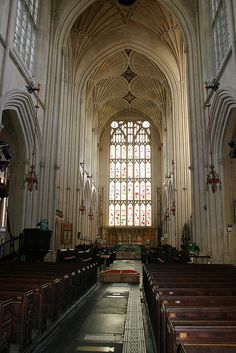 The Abbey in Bath, England where Plantagenet Halsey and Miranda Bourdon witness Lady Rutherglen's collapse. DEADLY AFFAIR