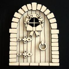 MDF Fairy Door Kit With Fairy Elf House Laser Cut MDF 15cm high 3mm Hobbit