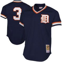 Alan Trammell Detroit Tigers Mitchell & Ness 1984 Authentic Cooperstown Collection Mesh Batting Practice Jersey - Navy - $79.99