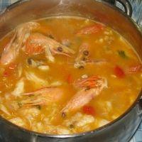Monkfish And Prawns Portuguese Style Rice Stew - Arroz De Peixe Malandrinho Recipe