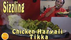 Chicken Fry And Roast Recipes Sizzling Chicken Hariyali Tikka - Kebab Recipe - Kathi Kebab Roll Kebab Recipes, Roast Recipes, New Recipes, Chicken Recipes, Favorite Recipes, Indian Chicken, Fried Chicken, Fries, Good Food