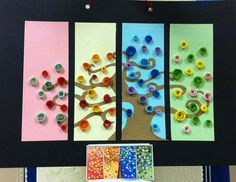 Quilling - like the idea Art Calendar, School Calendar, Kids Calendar, Seasons Calendar Kids, Season Calendar, Calendar Ideas For Kids To Make, Art For Kids, Arts And Crafts, Paper Crafts