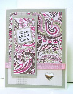All you need is love Valentines Day card by designedbymarylou