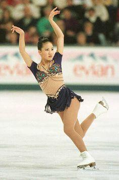 Michelle Kwan  -Purple Figure Skating / Ice Skating dress inspiration for Sk8 Gr8 Designs.
