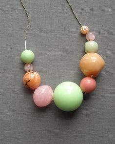 These colors: Rainbow Sherbet necklace by urbanlegend