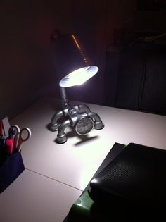 Hand Made Iron Pipe Desk Lamp-Industrial Desk by lambatolye