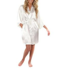 Shop Sue&Joe Women's Kimono Robe Short Satin Lounge Bridal Silk Lingerie Dressing Gown, Peacock Blue, Tag Size L=UK Size Free delivery and returns on eligible orders. Cute Sleepwear, Silk Sleepwear, Lingerie Sleepwear, Flower Girl Robes, Short Kimono, Kimono Fashion, Silk Satin, Clothes, Men Gifts
