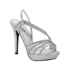 Women's Dyeables Dahlia Platform Sandal ($67) ❤ liked on Polyvore featuring shoes, sandals, dresses, pageant shoes, silver, rhinestone sandals, rhinestone platform sandals, slingback sandals, platform shoes and high heels sandals