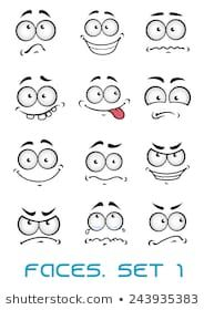Buy Cartoon Faces with Different Emotions by VectorTradition on GraphicRiver. Cartoon faces with different emotions as happiness, joyful, comics, surprise, sad and fun FLAT SPORTS MASCOTS MEDICIN.How to draw silly facesSet of cartoon facial expressions ro Art And Illustration, Illustrations, Cartoon Eyes, Cartoon Drawings, Happy Faces Cartoon, Cartoon Fun, Cartoon Clip, Graffiti Characters, Different Emotions