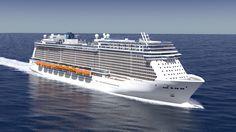 """Computermodell des Kreuzfahrtschiffs """"Escape"""" der Norwegian Cruise Line."""