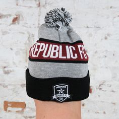 3da94eebf92 Republic FC Pom Beanie by Official Brand