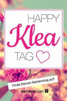 Du heißt Klea oder kennst jemanden, der so heißt? Hier findest Du alle Informationen rund um diesen schönen Vornamen und erfährst den Namenstag dieser Person!