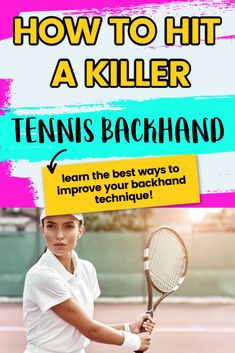 The best tennis backhand drills to improve your one or two handed backhand, Learn what grip to use and simple tennis tips to improve your backhand technique. Real Tennis, How To Play Tennis, Tennis Funny, Tennis Games, Tennis Gear, Tennis Tips, Sport Tennis, Tennis Techniques, Tennis Lessons