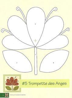 Flores para aplicação | von RETALHOS DE DOÇURA ♥