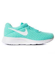 nike girls tanjun br running shoes; nike tanjun hyper turquoise white