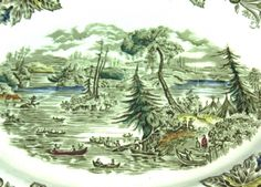 Heritage pattern by Ridgway Pottery - Scene among the 1000 Isles
