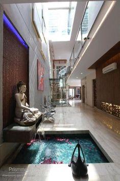 Delhi Architect: Spaces-Kapil Agarwal and Nikhil Kant-Urban Box Concept Interior Design. Pooja Room Door Design, Foyer Design, Home Room Design, Home Interior Design, Indian Home Interior, Indian Home Decor, Interior Modern, Indian Home Design, Jardin Zen Interior