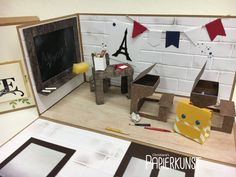 Explosionsbox – Au revoir Mylène – Schule/ Klassenzimmer zum Abschied