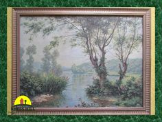 Vintage Large Picture Peaceful Tranquil by KressHillVintage
