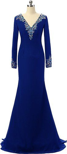 55ce9da2e79d0 Beaded Long Sleeve Evening Gowns Okaybridal Knit Dresses