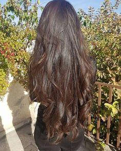 How to Grow Super Long Hair You'll Need: 1 tbsp coconut oil 1 tbsp . Save This PIN Long Curly Hair, Curly Hair Styles, Long Black Hair, Really Long Hair, Aesthetic Hair, Silky Hair, Beautiful Long Hair, Dream Hair, Dark Hair