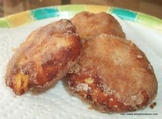 A delicious recipe for deep-fried apple fritters that are low carb. sugar free and gluten free.