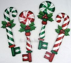 The Decorative Painting Store: Peppermint Key Ornaments e-Pattern DOWNLOAD, Newly Added Painting Patterns / e-Patterns
