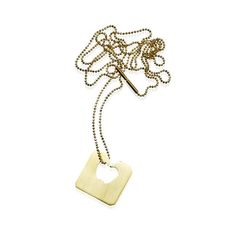 GOLDEN BREAD TAG necklace. Handmade by Karina Hunnerup www.hunn.me