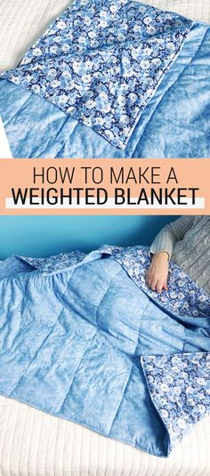 DIY: How to Make a Weighted Blanket for Anxiety Tutoriel de couture - Comment faire une couverture l Weighted Blanket For Anxiety, Making A Weighted Blanket, Weighted Blanket Tutorial, Weighted Blanket For Adults, Sewing Hacks, Sewing Tutorials, Sewing Tips, Sewing Crafts, Sewing Ideas