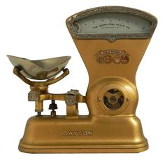 Early 1900's Dayton Candy Scale. I love the gold color.