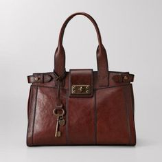 Fossil Vintage Re-issue Large Satchel - brown