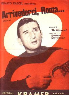 Arrivederci Roma Sheet Music for Piano  Voice 1954